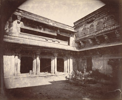 North façade of the first court of the Man Mandir Palace, Gwalior 10031435